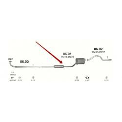 Глушитель Даихатсу Куор/Мов/Сирион/Ирв (Daihatsu Cuore/Sirion/Move/Yrv) 1.0 00-06 (06.01) Польша Polmostrow алюминизированный