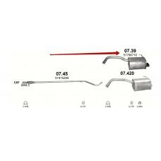 Глушитель Fiat 500/Ford Ka (Фиат 500/Форд Ка) 1.2 07- (07.39) Polmostrow алюминизированный