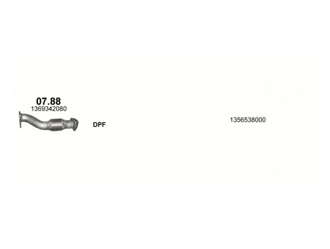 Труба приемная Fiat Ducato 4 (Фиат Дукато 4) 2.3D 07- (07.88) Polmostrow алюминизированная