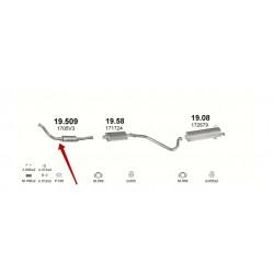 Заменитель катализатора Пежо 306 (Peugeot 306) 1.8/1.9 D 93-98 (19.509) Polmostrow алюминизированный
