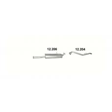 Труба конечная Мазда B2500 (Mazda B2500) 2.5 Diesel (12.204) 96-02 Polmostrow