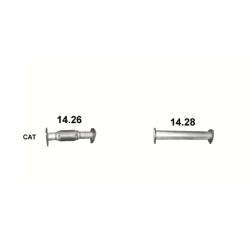 Труба Мицубиси Кантер (Mitsubishi Canter) 3.0 Diesel - (14.26) Polmostrow