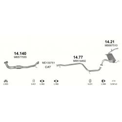 Труба глушителя приемная Митсубиси Лансер (Mitsubishi Lancer) 1.3i Sedan 08/88-05/92 - (14.140) Polmostrow