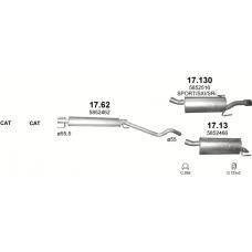 Глушитель задний (конечный, основной) Опель Астра (Opel Astra) H 1.9 CDTi Turbo Diesel 05-09 (17.130) - Polmostrow