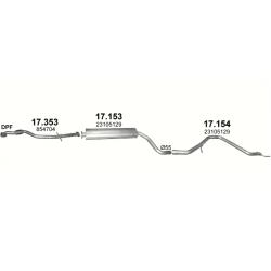 Глушитель задний (конечный, основной) Опель Инсигния (Opel Insignia) 2.0 D (Diesel) 3/2012 (17.154) - Polmostrow