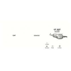 Глушитель задний (конечный, основной) Опель Зафира (Opel Zafira) A 2.0/2.2 DTi Turbo Diesel 11/01-03 (17.327) - Polmostrow