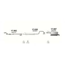 Глушитель задний (конечный) Опель Мерива (Opel Meriva) A 07/04-05/10 (17.587) - Polmostrow