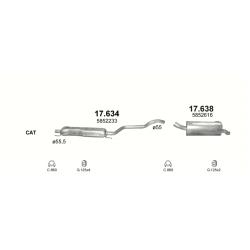 Глушитель задний (конечный, основной) Опель Зафира (Opel Zafira) B 1.9 CDTi TD 07/05 (17.638) - Polmostrow