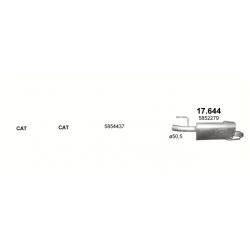 Глушитель задний (конечный, основной) Опель Мерива (Opel Meriva) A 1.7 CDTi Turbo Diesel (17.644) - Polmostrow