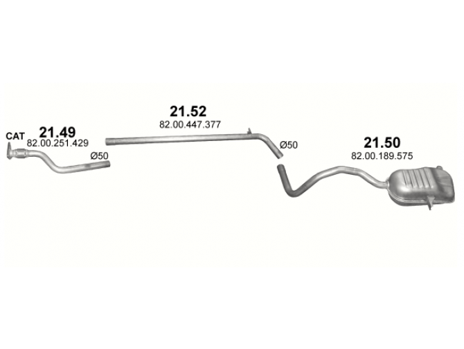 Труба коллекторная Рено Меган 2 (Renault Megane II) 1.9 dCi ; Scenic II 1.9 dCi (21.49) - Polmostrow