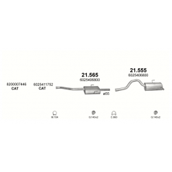 Глушитель задний (конечный, основной) Рено Эспейс (Renault Espace) 2.2 dCi 00 -02 (21.555) - Polmostrow