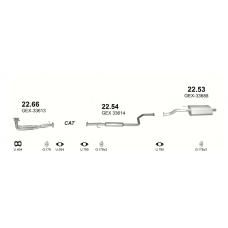 Глушитель задний (конечный, основной) Ровер 414 (Rover 414) 1.4i 8V/16V : 416 1.6i-16V Hatchback 05/95-1 (22.53) - Polmostrow