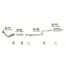 Глушитель задний (конечный, основной) Ровер 45 (Rover 45) 2.0 TD 99-06, Ровер 420 (Rover 420) 2.0 TD 96-99 (22.117) - Polmostrow