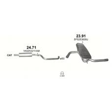 Глушитель задний (конечный, основной) Сеат Альтеа XL / Толедо (Seat Altea XL / Toledo) 1.6 8V (23.91) - Polmostrow