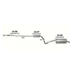 Глушитель задний (конечный, основной) Шкода Фабиа (Skoda Fabia) 1.2 TSi Kombi 10 (24.98) - Polmostrow