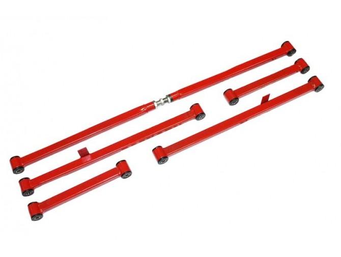 Реактивные тяги ВАЗ 2101-2107 комплект квадратные красные Украина