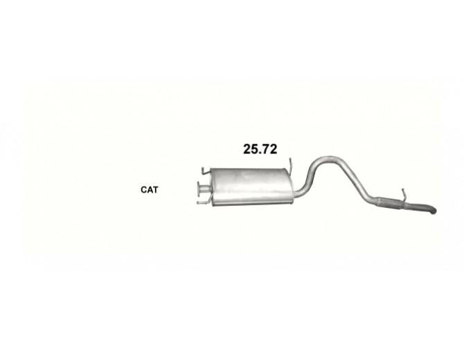 Глушитель Сузуки Витара (Suzuki Vitara) 2.0 98-03 (25.72) Polmostrow алюминизированный