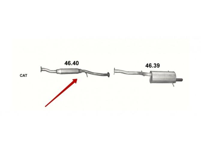Резонатор Субару Импреза (Subaru Impreza) 1.5 06- (46.40) Polmostrow алюминизированный