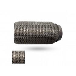 Гофра глушителя 60Х115 усиленная Interlock кольчуга (3 слоя, короткий фланец / нерж.сталь) EuroEx