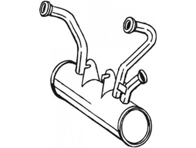 Глушитель Ситроен 2ЦВ (Citroen 2CV) 6 70-90 (135-369) Bosal алюминизированный