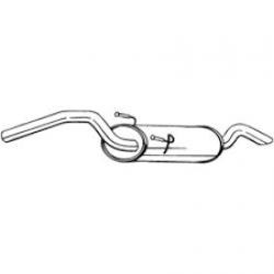 Глушитель Ситроен Джампи (Citroen Jumpy) / Фиат Скудо (Fiat Scudo) / Пежо Эксперт (Peugeot Expert) 95-00 (148-265) Bosal алюминизированный