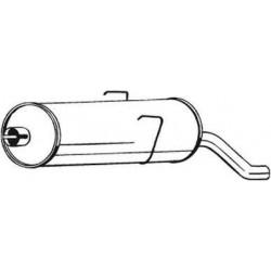 Глушитель Пежо 405 (Peugeot 405) 1.4/1.6 kat 87-96 (190-787) Bosal алюминизированный