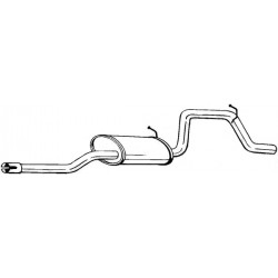 Глушитель Опель Агила (Opel Agila) 00- (281-519) Bosal алюминизированный
