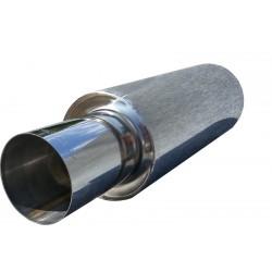 Прямоточный глушитель Unimix UCS313-813-7017-70 с насадкой, из нержавейки универсальный