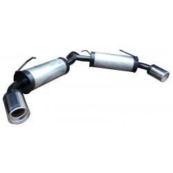 Глушитель прямоточный цилиндр 1+1 Митсубиси Лансер Х (Mitsubishi Lancer X) седан 1.3, 1.6, 2.0 2007 - Unimix