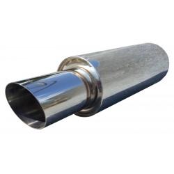 Прямоточный глушитель Unimix UCS313-813-7027-70 с насадкой, из нержавейки универсальный