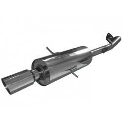 Глушитель Деу Ланос, Сенс (Daewoo Lanos, Sens) 1.5, 1.6 с насадкой (1404401) нержавеющая сталь Rudes