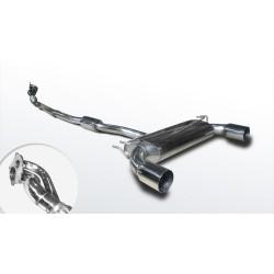Система выпуска Митсубиси Лансер Ево X ( Mitsubishi Lancer Evolution X) Резонатор (1409106) нержавеющая сталь Rudes