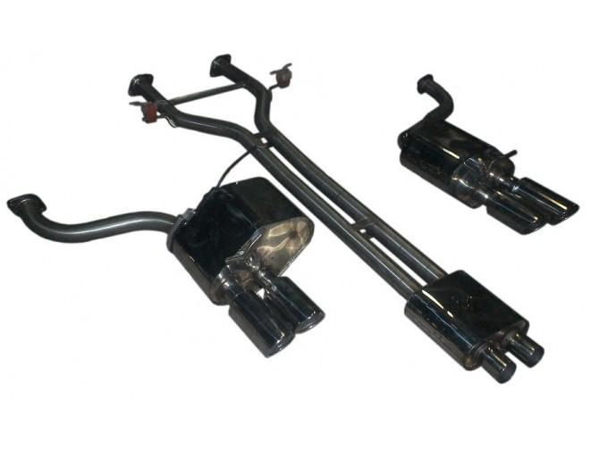 Выхлопная система Порш Панамера (Porsche Panamera) (изменяемый звук) (1410101) нержавеющая сталь Rudes