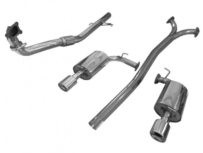 Выхлопная система Мазда 6 (Mazda 6) (от турбины) MPS (1415101) нержавеющая сталь Rudes