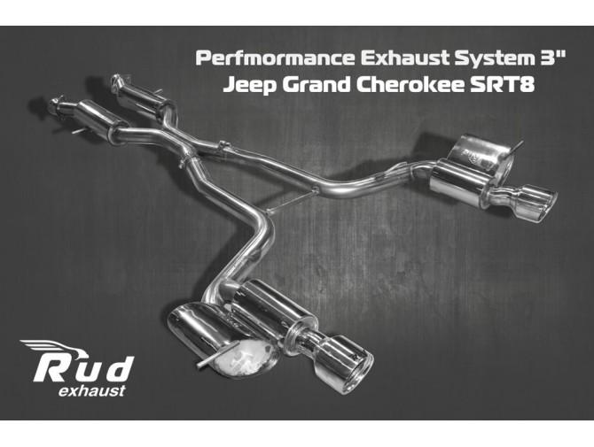 Система выпуска от катализаторов Джип Гранд Чероки  (Jeep Grand Cherokee) SRT8 V8 6.4L (1435102) нержавеющая сталь Rudes