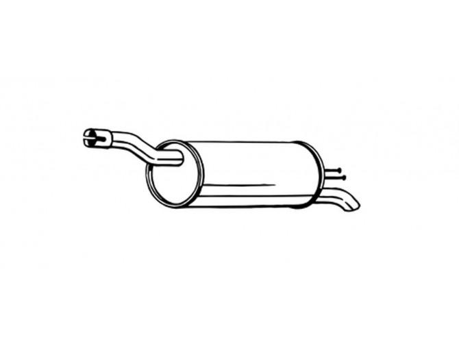 Глушитель Фиат Добло (Fiat Doblo) 1.6i/1.9 Diesel 00-09 (148-343) Bosal алюминизированный