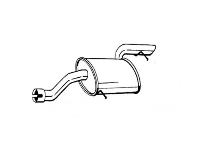 Глушитель Мерседес Виано (Mercedes Viano) 3.0 D (175-441) Bosal алюминизированный