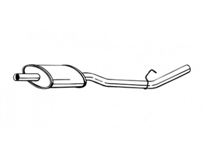 Глушитель предений Рено Кенго (Renault Kangoo I) 98-03 (200-267) Bosal 21.265 алюминизированный