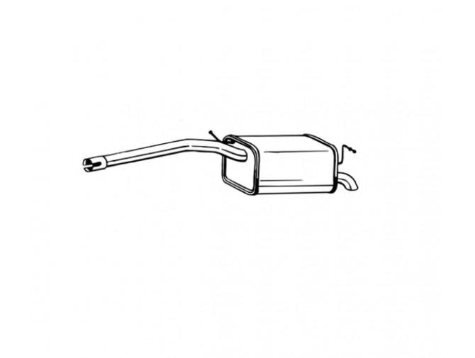 Глушитель Фольксваген Кадди III (Volkswagen Caddy III) 04- (233-059) Bosal 30.611 алюминизированный