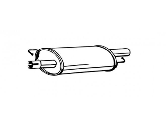 Резонатор Фольксваген Транспортер V (Volkswagen Transporter V) 2.5 D 03-09 (233-577) Bosal алюминизированный