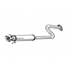 Глушитель передний Ровер 25, Стритвайс (Rover 25. Streetwise) 99-05 (278-111) Bosal 22.119 алюминизированный