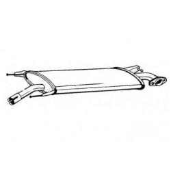 Глушитель передний Тойота РАВ 4 (Toyota RAV 4) 05- (279-445) Bosal алюминизированный