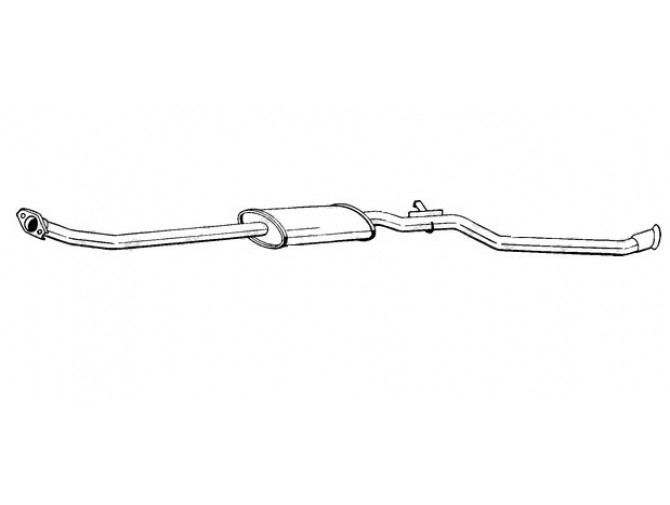 Глушитель Ситроен Берлинго (Citroen Berlingo) 03- (291-507) Bosal 04.131 алюминизированный