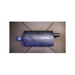 Ремонтный (универсальный) глушитель плоский (длина 340мм, ширина 190мм, высота 100мм) входящие патрубки D42 Черновцы SKS