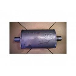 Ремонтный (универсальный) глушитель плоский (длина 340мм, ширина 200мм, высота 120мм) труба D50 (центр) Черновцы SKS