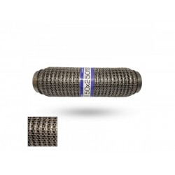 Гофра глушителя 50Х250 усиленная Interlock кольчуга (3 слоя, короткий фланец / нерж.сталь) EuroEx