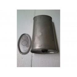 Глушитель универсальный плоский D.712/45 (Длинна 300мм, ширина 200мм, высота 100мм диаметр входа 45мм)
