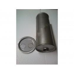 Глушитель универсальный круглый D.742/45 (Длинна 300мм, диаметр корпуса 150мм, диаметр входа 45мм)