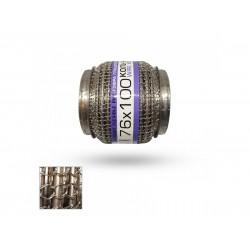 Гофра глушителя 76Х100 усиленная Interlock кольчуга (3 слоя, короткий фланец / нерж.сталь) EuroEx