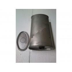 Глушитель универсальный плоский D.772/50 (Длинна 300мм, ширина 260мм, высота 130мм диаметр входа 50мм)